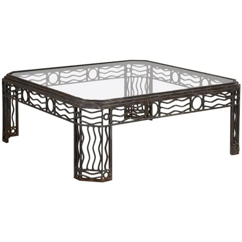 Iron And Glass Coffee Table Decorative Wrought Iron And Glass Coffee Table 1970s At 1stdibs