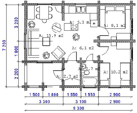 two bed summer house plans