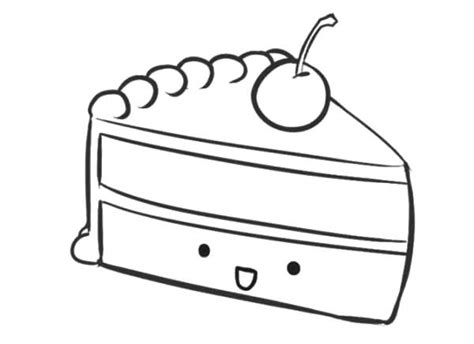 coloring pages of a piece of cake smiling cake slice coloring pages best place to color