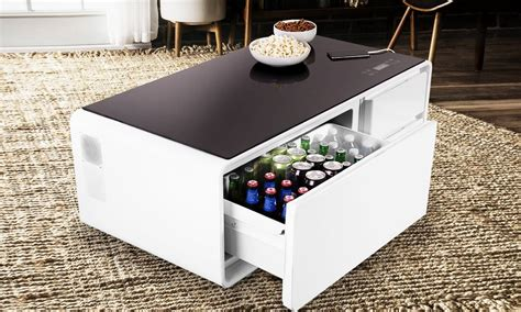 Here S A Coffee Table Equipped With A Mini Fridge