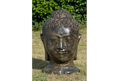 Tete De Bouddha En Pour Jardin by Statue T 234 Te Bouddha En Fibre Ciment De Bali Pour Jardin