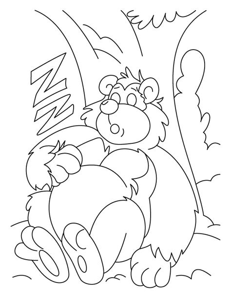 sleeping bear coloring pages to print bowser jr coioring whith crayons free coloring pages