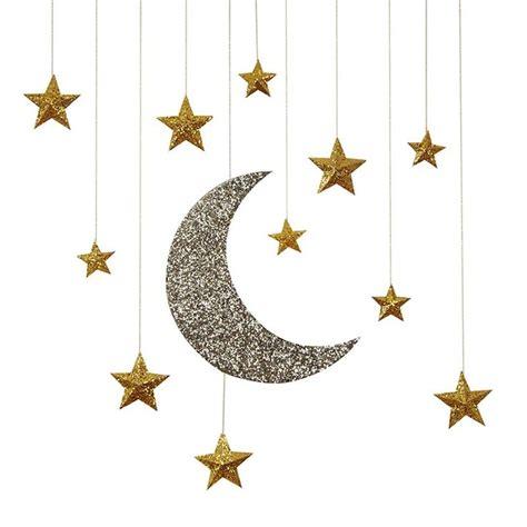 glitter wallpaper how to hang glitter moon stars hanging decorations sam s shower