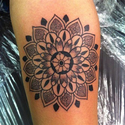 tattoo flower dot classic flower dot work tattoo by lauren tattoos pinterest