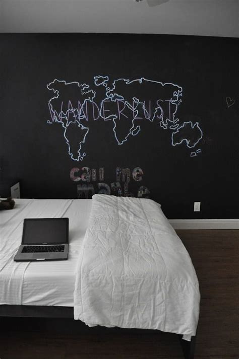 bedroom chalkboard wall 25 cool chalkboard bedroom d 233 cor ideas to rock digsdigs