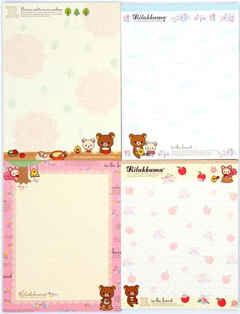 Rillakuma Japan Letter Set rilakkuma letter set san x japan letter sets