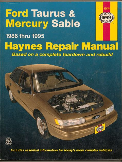 haynes repair manual 1986 1995 ford taurus mercury sable collectors weekly