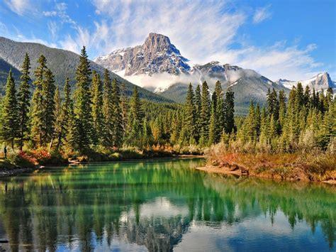 landscape mountain rocky mountain peak  snow forest