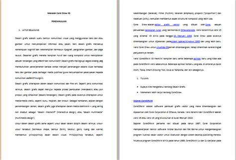 makalah layout desain grafis makalah desain grafis coreldraw contoh makalah kita