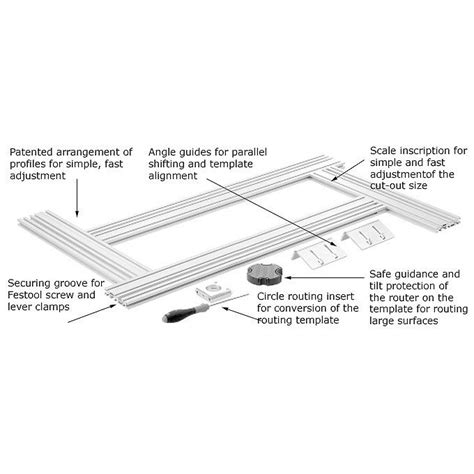 Festool Multi Routing Template Festool Multifunction System 400mm Routing Template Mfs 400 Get Tools Direct