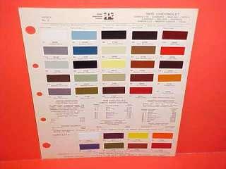 1986 chevrolet blazer el camino paint chip truck color