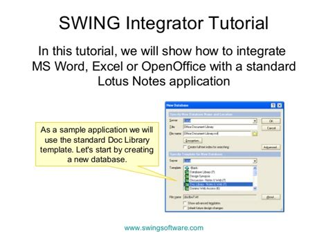 office integration for lotus notes tutorial