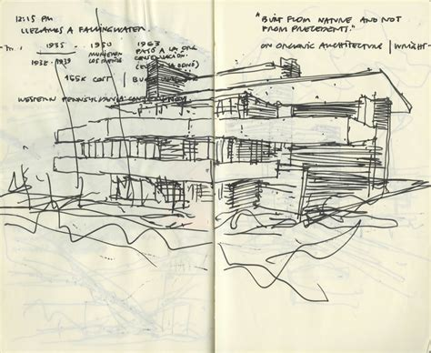 original drawings frank lloyd wright fallingwater fallingwater anonymous architecture