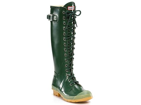 Zetta Tunic boots green yu boots