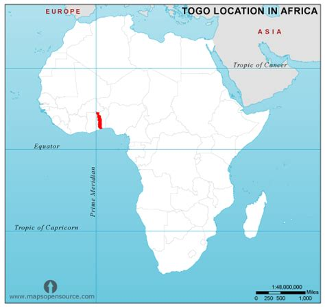 africa map togo togo country profile free maps of togo open source