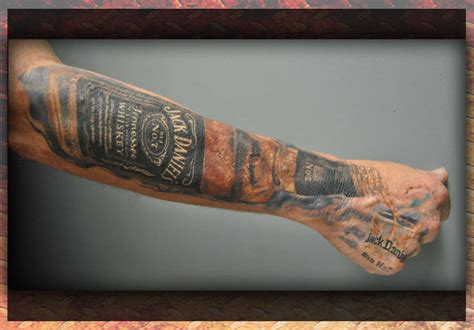 shot glass tattoo brandonmiller glass booze drinks sleeve