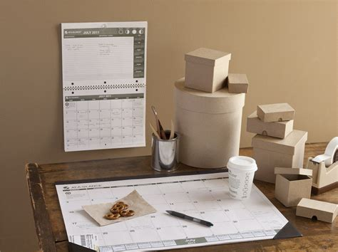Inexpensive Desk Calendars Inexpensive At A Glance 2014 Monthly Desk Pad Black And