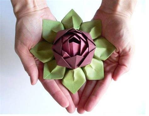 Lotus Flower Paper Folding - decorate your home with these beautiful origami flowers