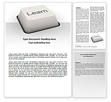 learn button word template 07335 poweredtemplate com