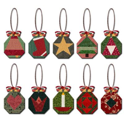 paper christmas ornaments patterns paper pieced octagon ornaments