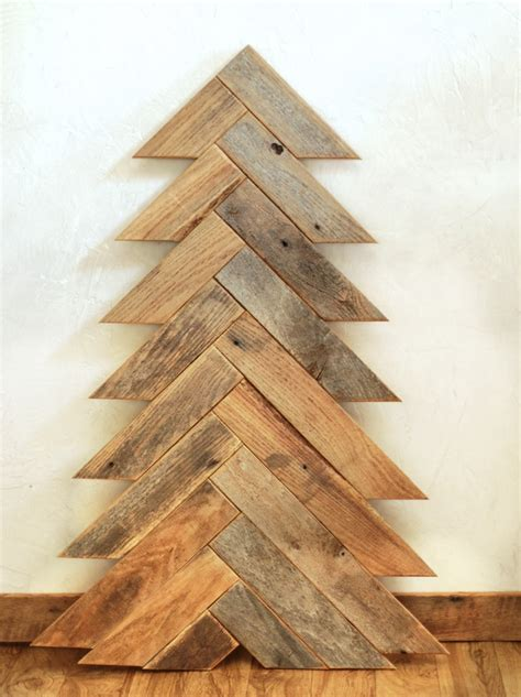 10 wooden christmas trees with eco style