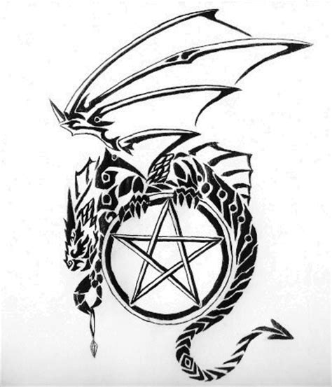 dragon and pentagram by amberhallows on deviantart