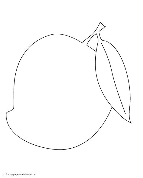 mango coloring pages preschool mango coloring pages coloring home