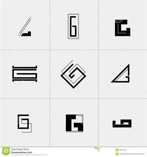 element layout template is not supported letter g icon or logo design template elements stock