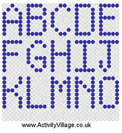 seed bead letter patterns alphabet bead letter pattern seed 171 free knitting patterns
