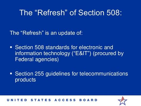section 508 refresh section 508 accessibility idrac 2014 timothy creagon