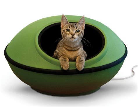 heated cat beds modern pod shaped heated cat bed