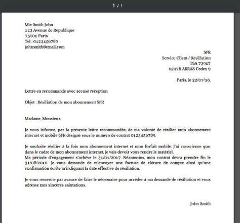 Lettre De Rã Siliation Mobile Fin D Engagement Cancelling Phone Plans La Lettre De R 233 Siliation