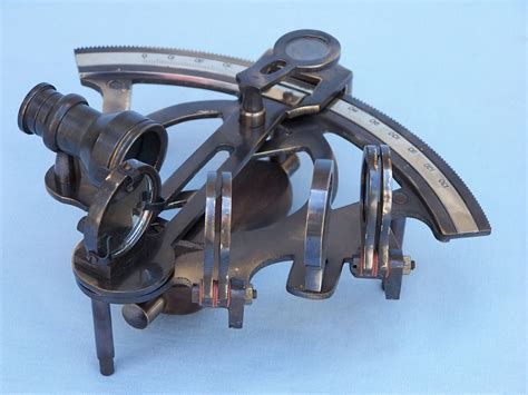 sextant for sale buy antique brass sextant 7 inch with rosewood box