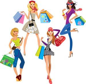 happy fashion shopping free vector in encapsulated