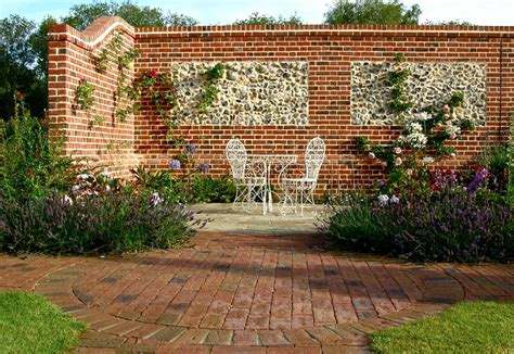 Brickwork And Flint Panel Walls By Roger Gladwell Walls For Gardens