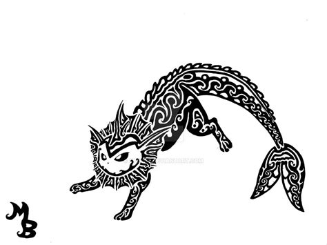 vaporeon tattoo vaporeon tribal by exenne on deviantart