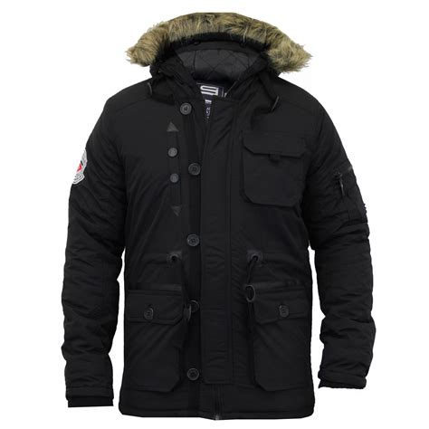 Mens Quilted Parka by Mens Parka Jacket Smith Jones Coat Padded Quilted Fur