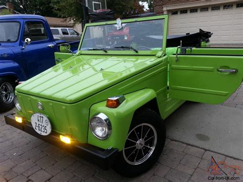 green paint sles vw thing headturner completley restored lamborghini green