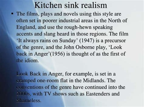 Kitchen Sink Drama Definition Kitchen Sink Dramas Kitchen Sink Drama Definition