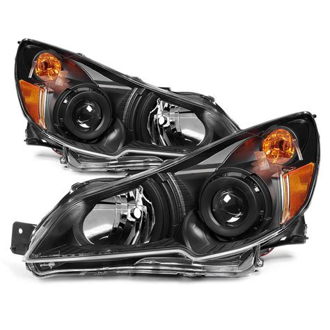 subaru headlight styles spyder hd jh sleg10 am bk subaru legacy 10 12 outback 10