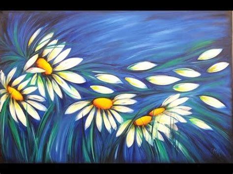 pintar cuadros con pintura acrilica como pintar con acrilicos cuadro de margaritas claudia