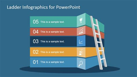 Free Ladder Infographic Slide For Powerpoint Slidemodel Powerpoint Free