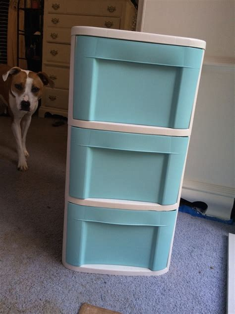 How To Paint Plastic Drawers by Diy How To Spray Paint Plastic Storage Confessions Of A