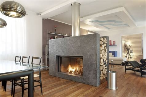 With Fireplace by Open Fireplace Designs To Warm Your Home