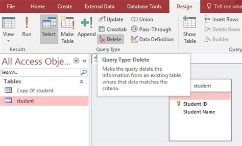 repository pattern query exle access delete table records