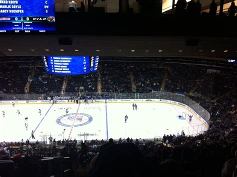 section 200 madison square garden chase bridge blocks half the scoreboard from the 200