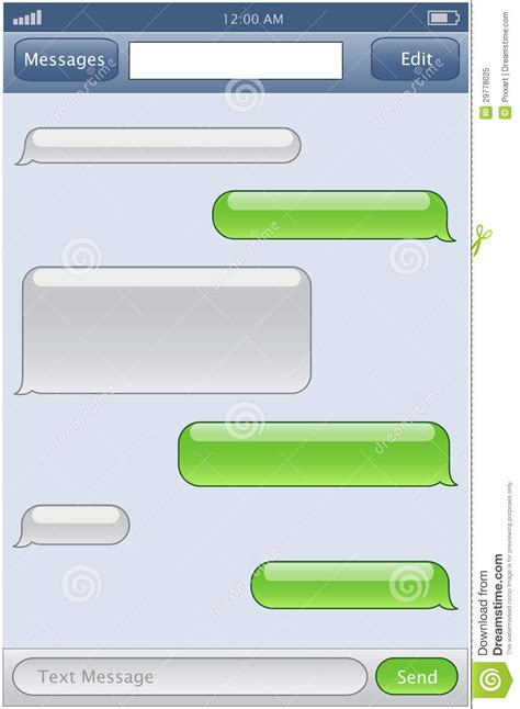 text message templates phone chat template stock vector image of communication