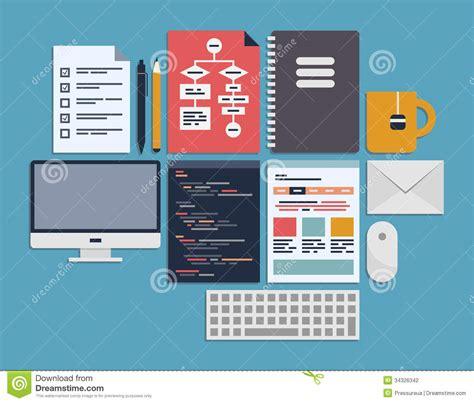 flat layout photography website programming management stock photography image