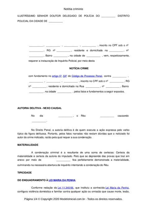Modelo Notitia criminis