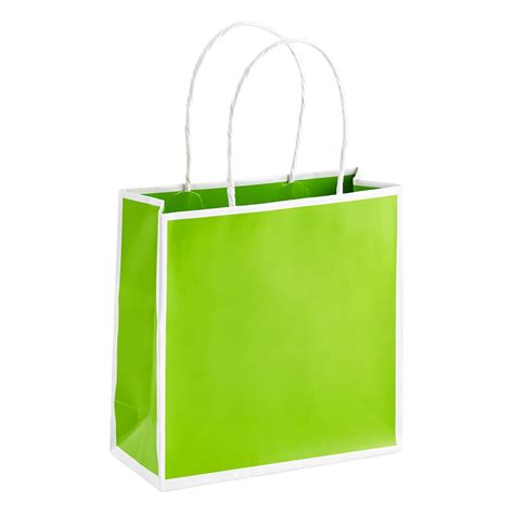 small lime bordered gift bag the container store